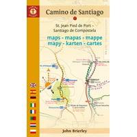 Camino Guides: Camino de Santiago Maps: St. Jean Pied de Port - Santiago de Compostela (Paperback)