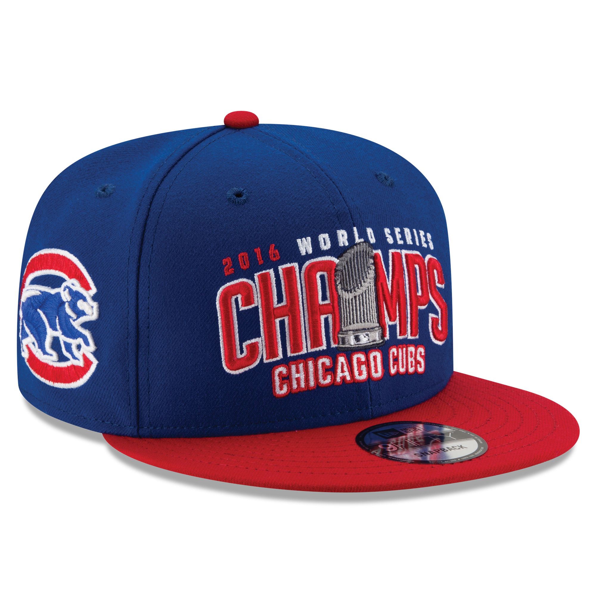 Chicago Cubs New Era 2016 World Series Champions Two-Tone 9FIFTY Snapback Adjustable Hat - Royal/Red - OSFA