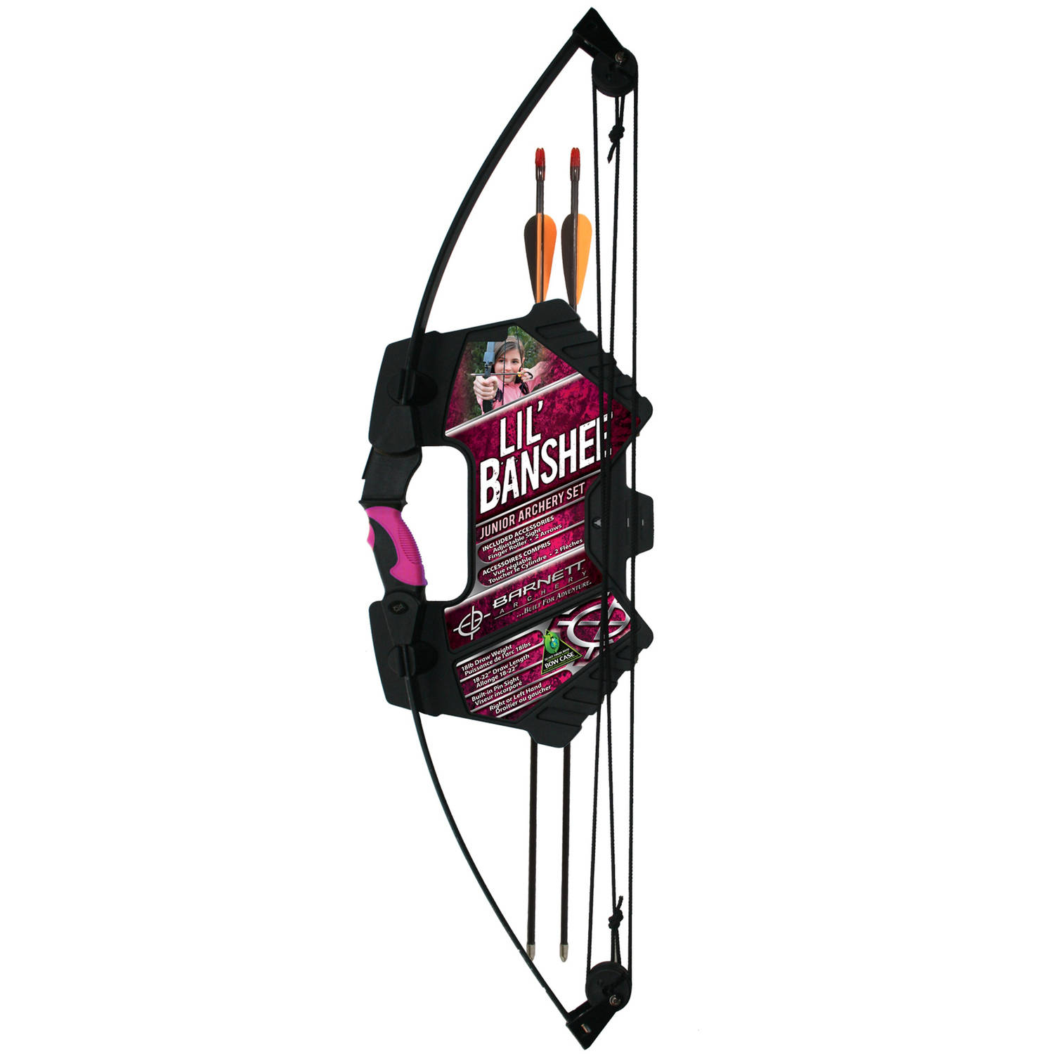 Barnett Sports & Outdoors Lil Banshee Jr. Archery Set, Pink