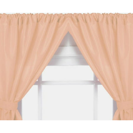 Royal Bath 5 Gauge Vinyl Window Curtains With Two Panels