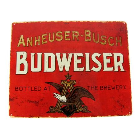 Vintage Style Tin Anheuser Busch Budweiser Beer Sign Man Cave/Bar/Pub Wall Decor