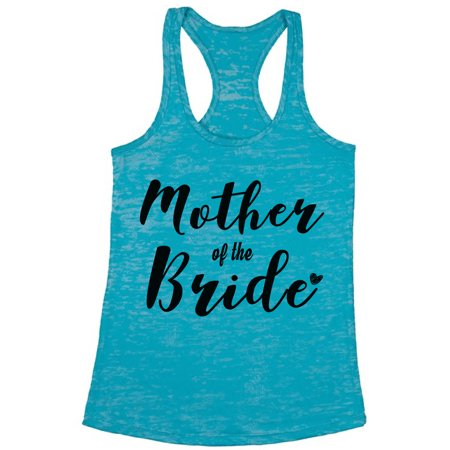 Awkward Styles Women's Mother Of The Bride Mom`s Graphic Burnout Racerback Tank Tops Wedding Party Bridal Embroidered Tank Top