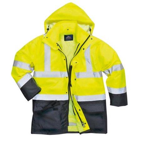 Portwest US768 2XL Hi-Visibility 5-in-1 Waterproof Executive Jacket, Yellow & Black - Regular - image 1 of 1