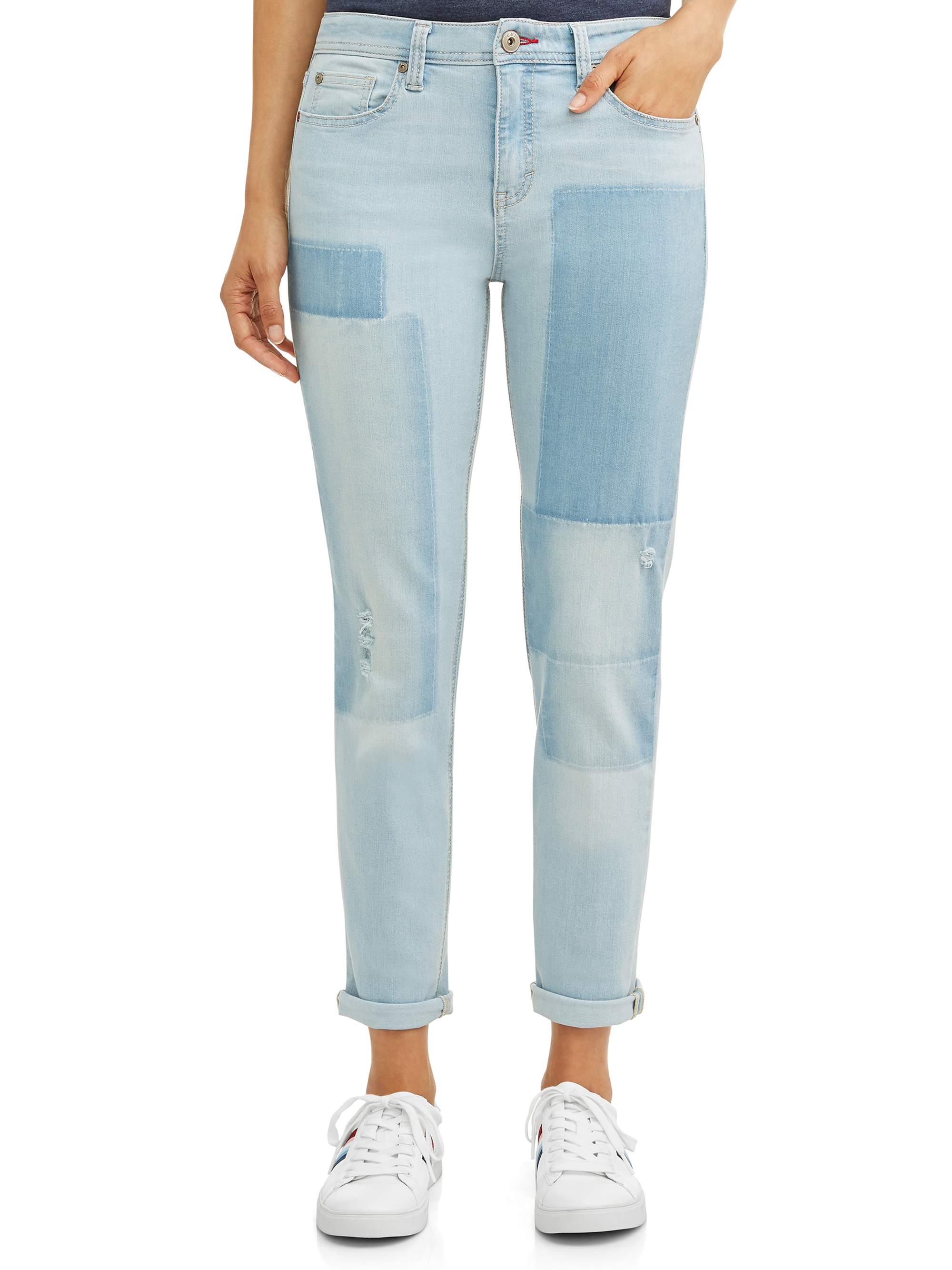 Women's Alex Vintage Relaxed Jean Printed Patchwork