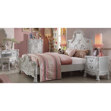 - Acme Furniture 30665F Dresden Kids Victorian Antique White Full Bed Traditional