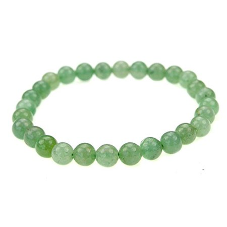 Adventurine Gemstone (Fashion Jewelry Round Aventurine Gemstone stretch bracelet for healing - Men women -91026)