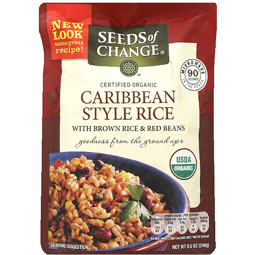 Seeds of Change Caribbean Style Rice, 8.5 oz, (Pack of 12)