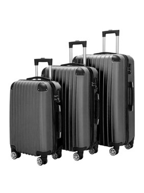 Zimtown Luggage Set ABS 20in/24in/28in Suitcase with TSA Lock Spinner