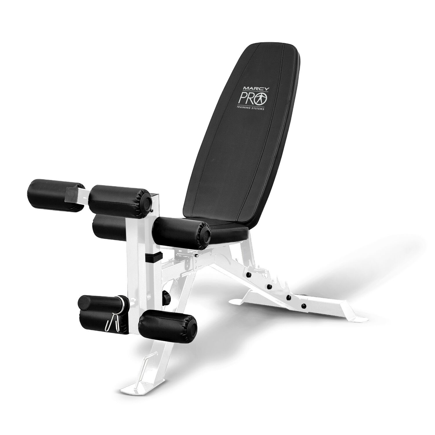 Charming Impex PM 5788 FID Powder Coated Steel Home Gym Adjustable Weight Bench,  White