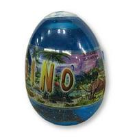 Party Favors - Jurassic Dinosaurs - Dino Slime - Blue - Egg w Dinosaur