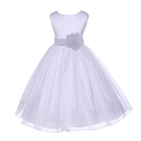 Organza Flower Girl Dresses Junior Bridesmaid Dresses Graduation Dresses Formal Flower Girl Dresses Holy Communion Dresses Easter Summer Dresses Baptism Dress 841T Please look at OUR SIZE CHART on the left for accurate measurement  We used an additional petticoat for the picture that is not included with the dress