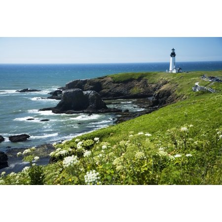 USA Oregon Yaquina Head Historic Lighthouse And Natural Wilderness Area Newport Canvas Art - Peter French  Design Pics (20 x 13)