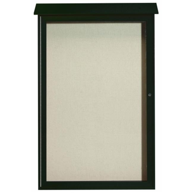 Aarco Products Inc.  Single Hinged Door Plastic Lumber Message Center with Vinyl