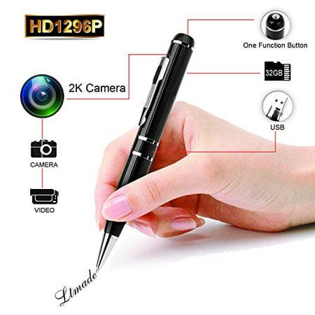 LTMADE Spy Camera 1296P 32G Hidden Camera Pen OV4689 Full Real 2K Low Illumination 1080P Pen Camera Multfunction Pen DVR Cam - image 4 of 4