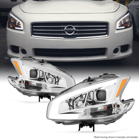 Fits 2009-2014 Maxima LED DRL Light Bar Projector Front Lamp Headlights