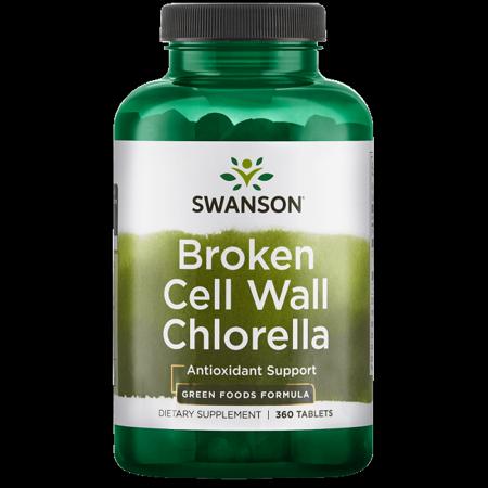 Leaf 1000 Mg 500 Tabs - Swanson Broken Cell Wall Chlorella 500 mg 360 Tabs