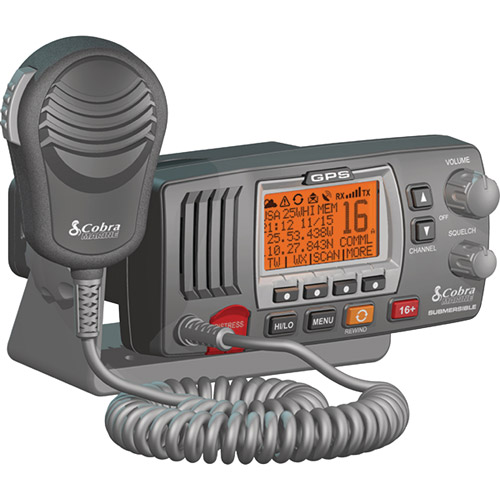 Cobra MR F77 Fixed Mount Class D VHF Radio with Built-In GPS Receiver