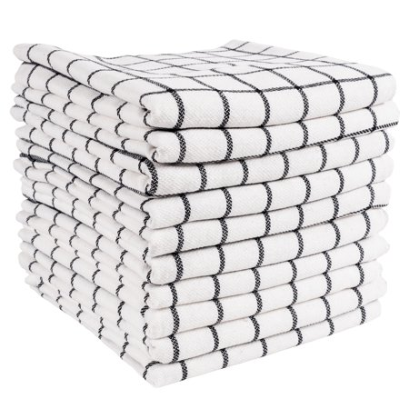 KAF Home Classic Checkered Kitchen Towels | Set of 10, 16