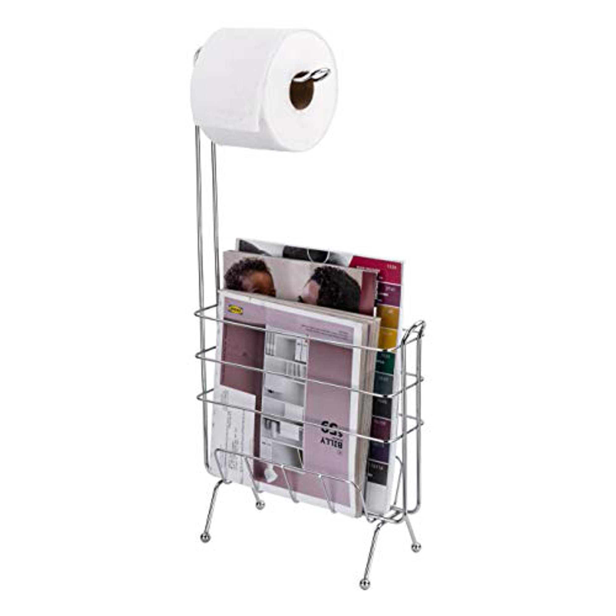 Ldr Industries Free Standing Toilet Paper Holder And Magazine Rack Bathroom Storage Organizer Rectangular Pedestal Design Bathroom Tissue Holder Chrome Walmart Canada
