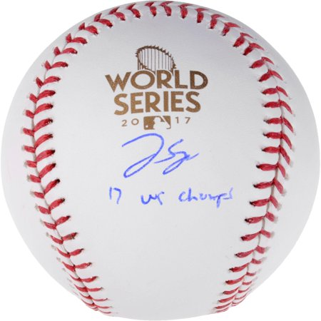 George Springer Houston Astros 2017 MLB World Series Champions Autographed Logo Baseball with