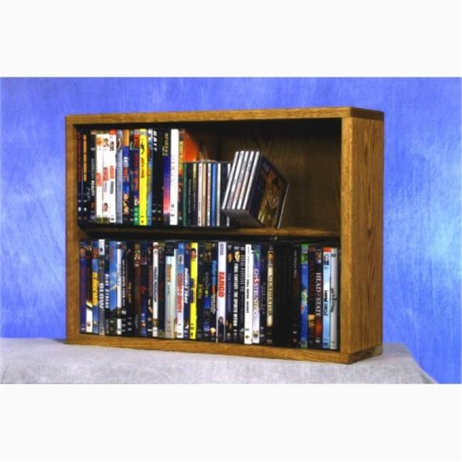 Wood Shed 215-24 Combo Solid Oak 2 Row Dowel CD-DVD Cabinet Tower