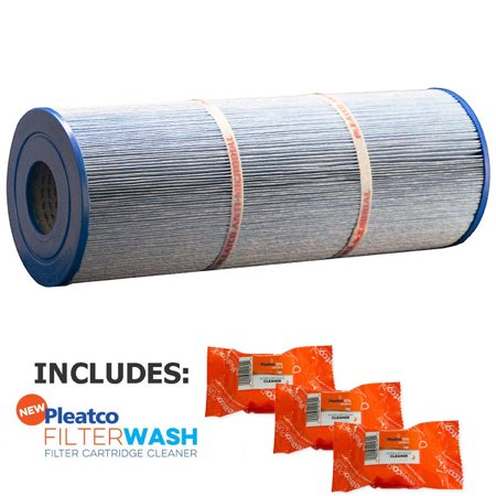 Leisure Bay Spas Parts - Pleatco Cartridge Filter PLBS75-M Leisure Bay S2/G2 Spa 75 SF (Antimicrobial)  817-0015 303433 R173600 (Antimicrobial) w/ 3x Filter Washes