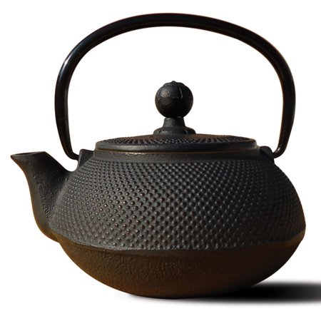24 Oz Glass Teapot (20 Oz. Matte Black Cast Iron
