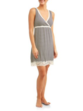 Maternity Nurture by Lamaze Nursing Full Coverage Sleep Chemise - Available in Plus Sizes