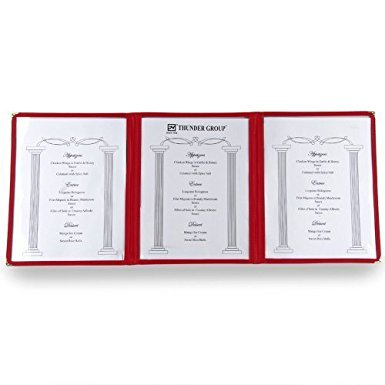 Winco Pmct 9R Menu Cover  Set Of 5