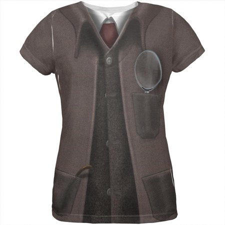 Halloween Sherlock Holmes Costume All Over Womens T Shirt - Sherlock Halloween Costumes