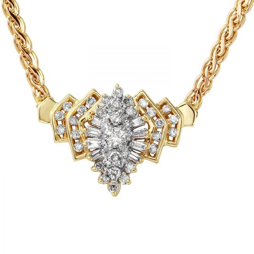 Foreli 1CTW Diamond 14K Yellow Gold Necklace by Generic