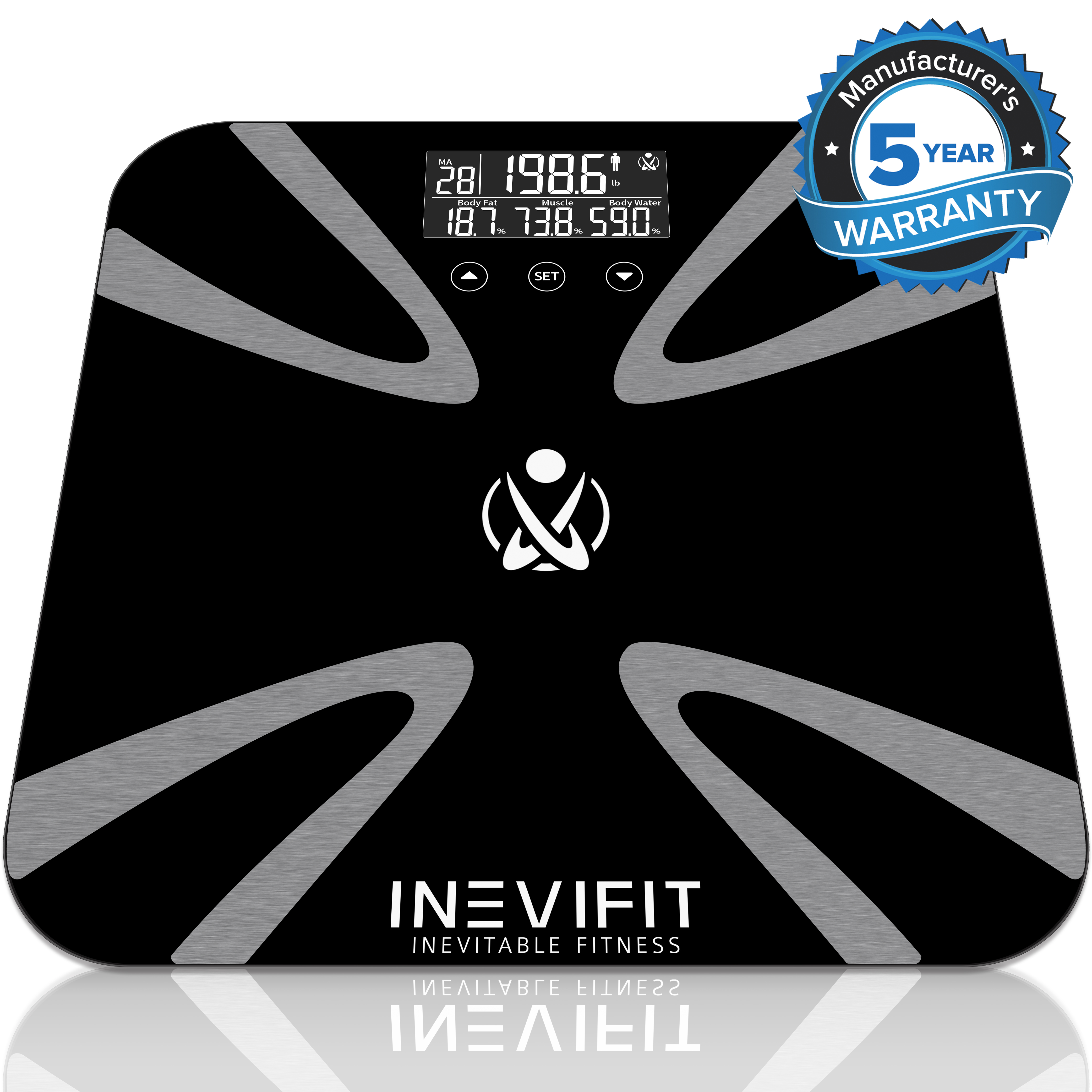 INEVIFIT Body Fat Scale with Digital Body Composition Analyzer, Body Weight, BMI & more