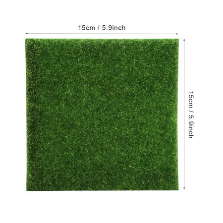 Rdeghly 10 PCS Artificial Grass Mat Turf Lawn Garden Micro Landscape Ornament Home Decor, Artificial Turf, Synthetic Turf - image 7 of 8