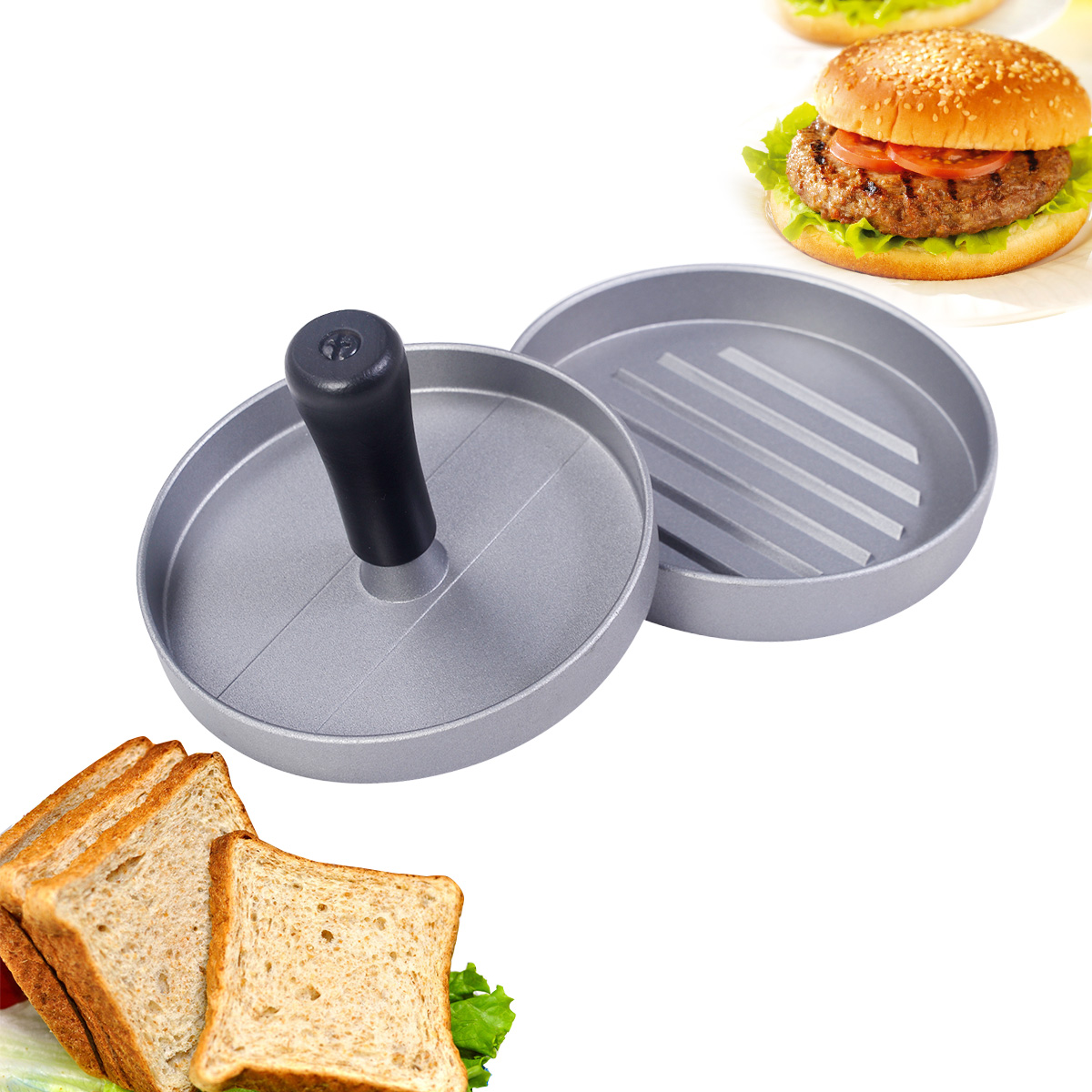 Costway Kitchen Craft Pounder Beef Hamburger Vegetable Burger Press Maker