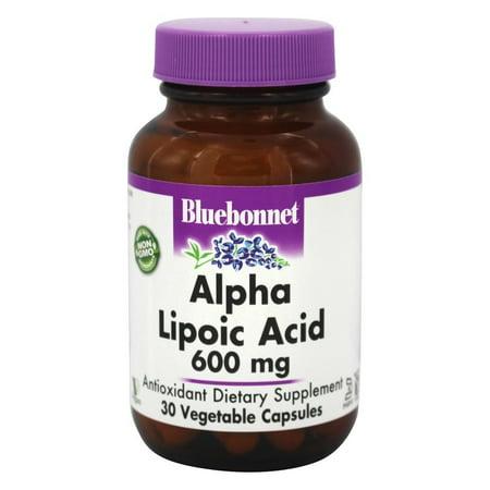 Bluebonnet Nutrition - ácido alfa lipoico 600 mg. - 30 vegetal cápsula (s)