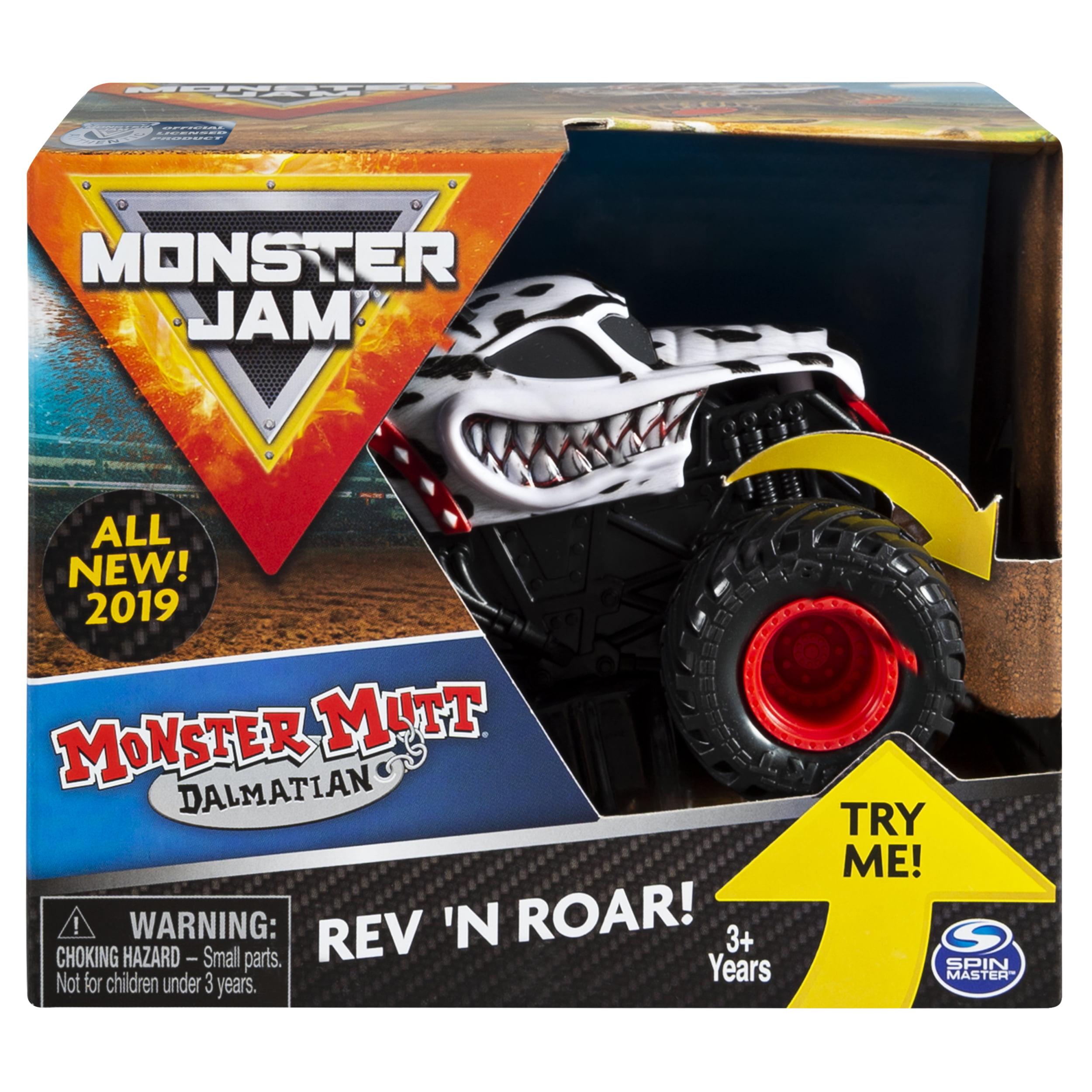 Monster Jam, Official Monster Mutt Dalmatian Rev �N Roar Monster Truck, 1:43 Scale by Spin Master Ltd