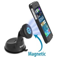 WizGear Universal Magnetic Car Mount Holder, Windshield Mount and Dashboard Mount Holder for Cell Phones with Fast Swift-snap TM Technology, Magnetic Cell Phone Mount (No Adhesive Disk Needed)