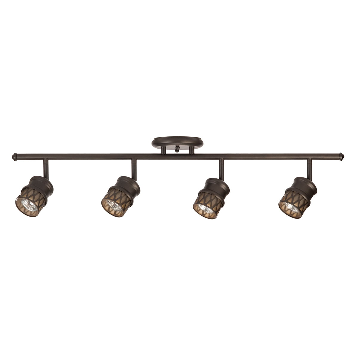 Globe Electric 50 Watt Norris 4-Light Oil Rubbed Bronze Track Lighting Kit, Bulbs Included by Globe Electric