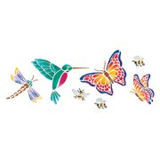 "Stencil Magic Decorative Stencils-Butterflies & More 5.25""X13"""