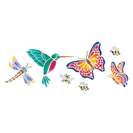 Stencil Magic Decorative Stencils-Butterflies & More - Decorative Stencils