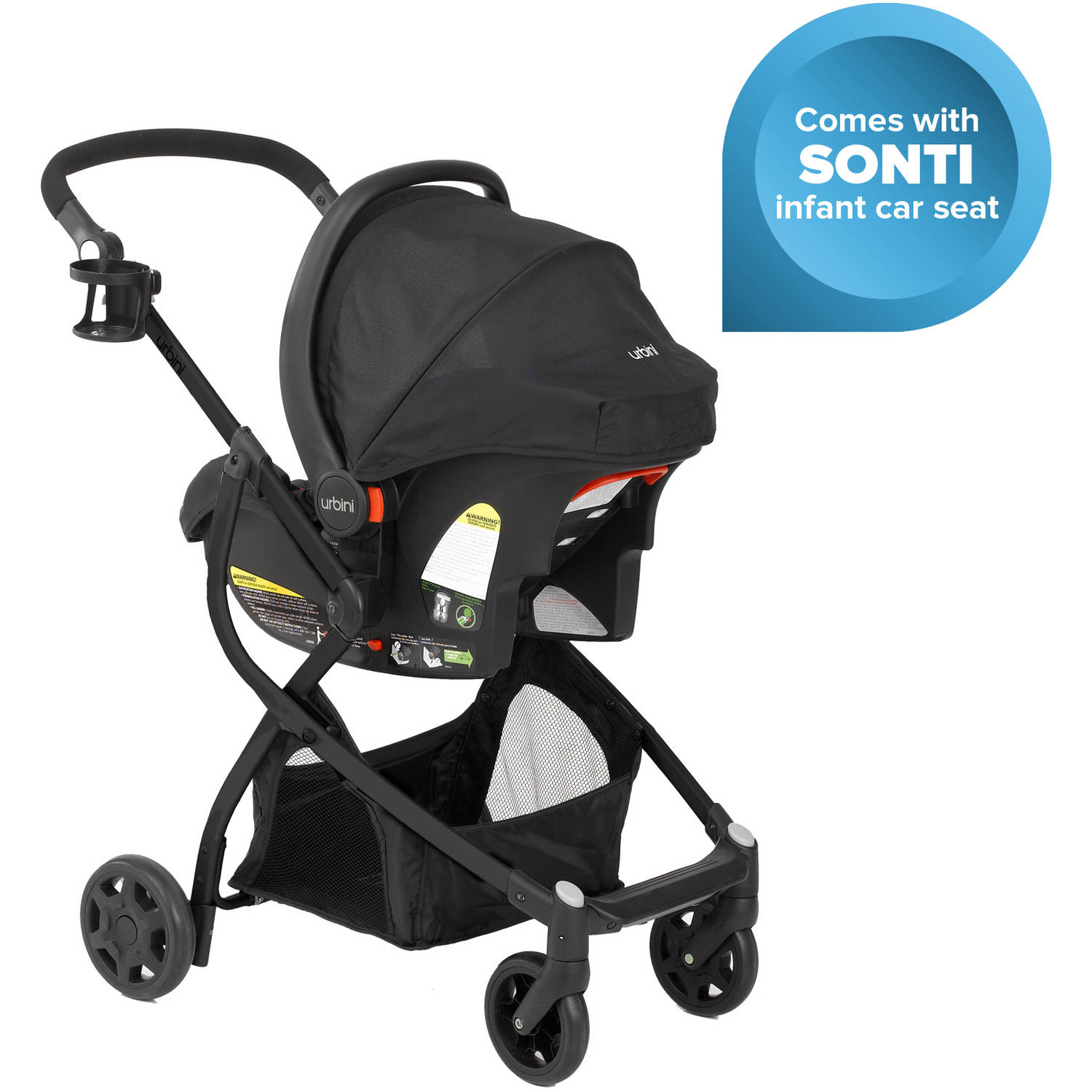 Omni Black Baby Stroller Car Seat 3 in 1 Travel System Infant ...