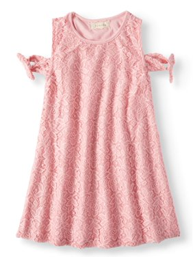 ef8b5764ae0f Product Image Tied Cold Shoulder Lace Swing Dress (Little Girls   Big Girls)