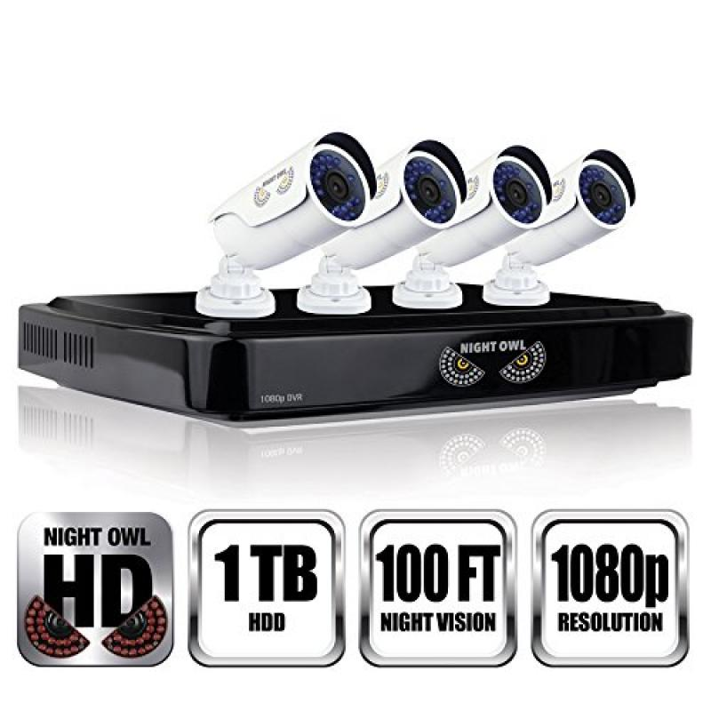 Night Owl Optics C-841-A10 8 Channel 1080P DVR Security S...