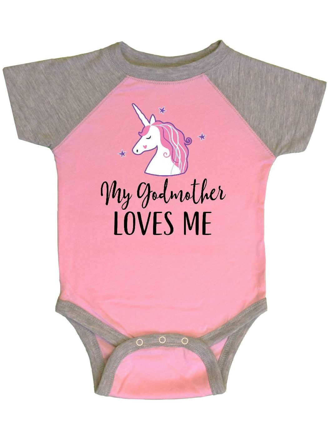 Inktastic My Godmother Loves Me Unicorn Infant Creeper Godchild Girls Girl From