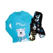 Big Feet PJs 2 Piece Blue Footed Pajamas Stay Cool Polar Bear Winter Theme