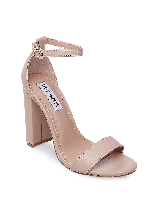 Carrson Leather Ankle-Strap Sandals