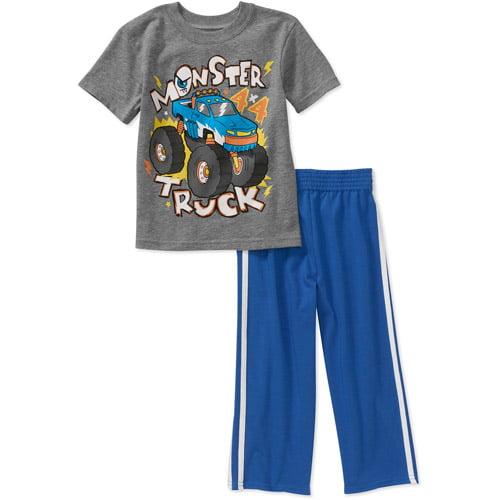 Garanimlas Baby Boys' 2-Piece Graphic Tee and Pant Set