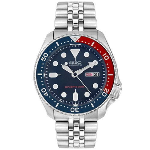 Seiko Men's Automatic Silver-Tone SS Navy Blue Dial by Seiko