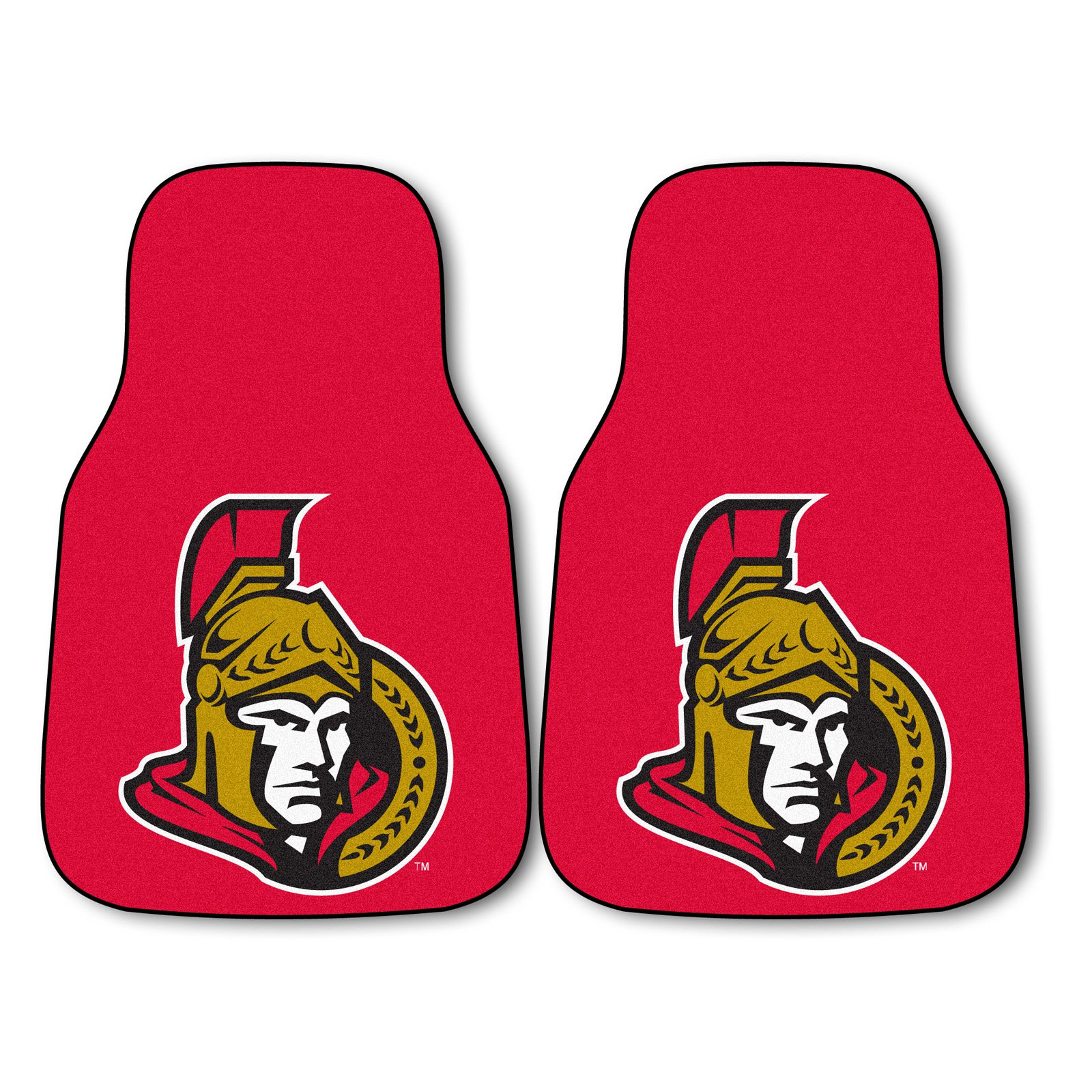 Ottawa Senators 2-Piece Printed Carpet Car Mat Set
