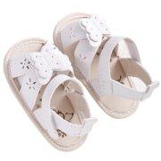 ZEDWELL Baby Kid Girl Butterfly Hollow Pu Leather Soft Shoes Prewalker Beach First Walkers